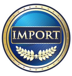 Import label vector