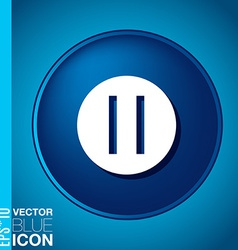 Pause web icon on background vector