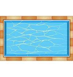 Top view of swimming pool vector