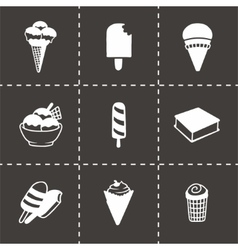 Ice-cream icon set vector