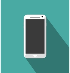 White phone standalone vector