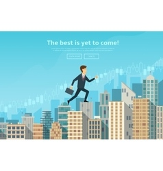 Confident businessman walking vector