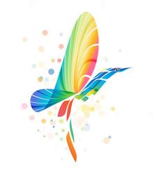 Abstract colorful fantasy bird vector