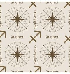 Astrology sign archer seamless pattern vector