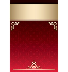 background with red gradient and golden decor vector image vector image