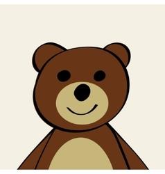 Bear funny cartoon animal toy vector