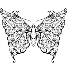 black lace butterfly vector image vector image