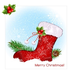 Christmas symbol stocking vector image vector image