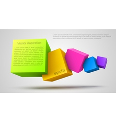 Colorful cubes 3d vector