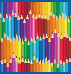 Crayon background colorful pencil seamless pattern vector