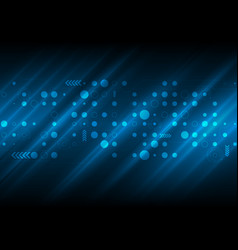 Dark blue abstract tech futuristic background vector