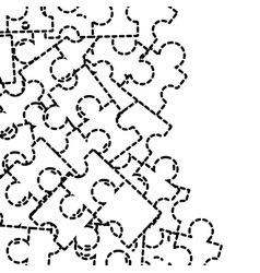 dotted shape puzzle pieces game background design vector image vector image