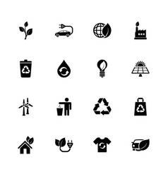 ecological - flat icons vector image