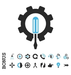 Engineering flat icon with bonus vector