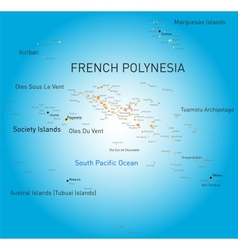 French Polynesia vector image vector image
