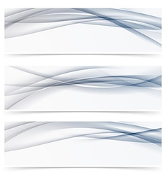 Futuristic hi-tech header collection line pattern vector