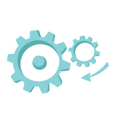 gear mechanism cartoon vector image