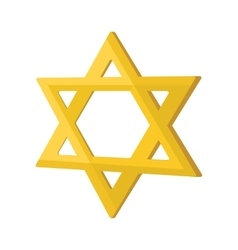 Gold jew star cartoon icon vector