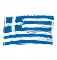 grunge Greece flag vector image