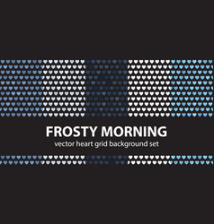 Heart pattern set frosty morning seamless vector