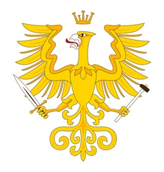 Heraldic eagle 18 vector image vector image