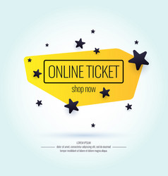 modern poster sale online tickets vector image