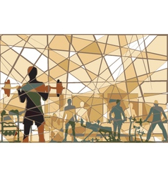 Mosaic gym vector image