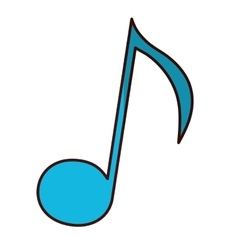 musical note icon image vector image vector image