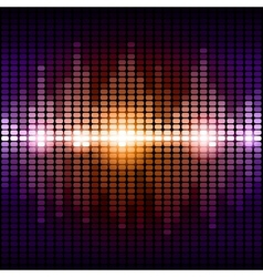 Orange and purple digital equalizer background vector