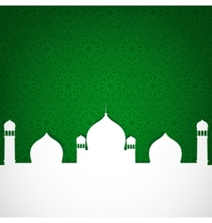 paper mosque on green vector image vector image