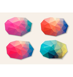 Polygon abstract banners vector