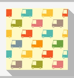 Retro seamless pattern collection with car 6 vector