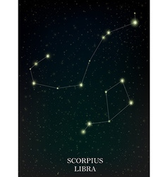 Scorpius and Libra constellation vector image