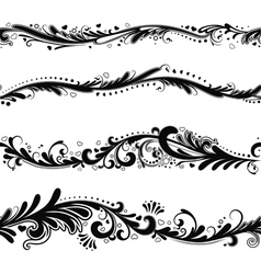 Seamless horizontal patterns vector image