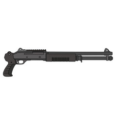 Short pump shotgun vector