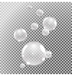 Underwater bubbles set vector