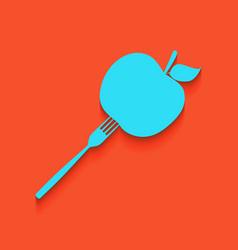 Vegetarian food sign whitish vector