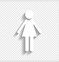 Woman sign white icon with vector