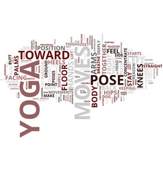 Yoga moves text background word cloud concept vector