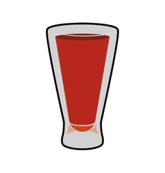 Cocktail shot icon drink design graphic vector