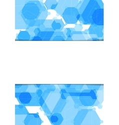 Abstract geometric blue hexagons flyer vector