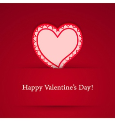 Valentine day heart sticker vector image