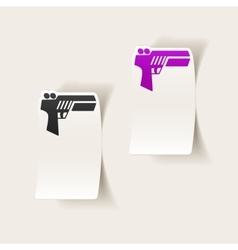 realistic design element gun game vector image