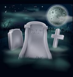 spooky grave vector image