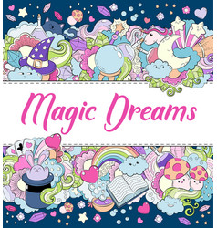 Magic dreams background wallpaper texture vector