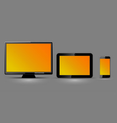 three digital devices vector image