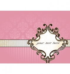elegant french vintage label horizontal vector image