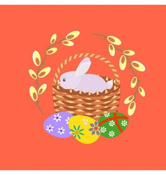 Easter red vector
