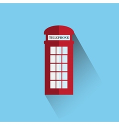 Red britain telephone box vector