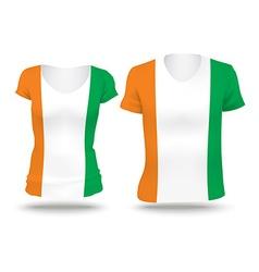 Flag shirt design of coast of ivory vector